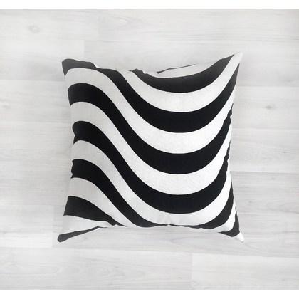 """Купить подушку """"Черно-белые волны"""""""