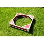 Песочница малая с четырьмя  треугольниками