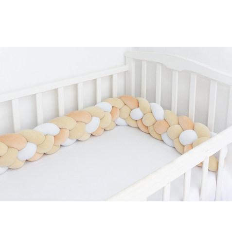 Плетёный Бортик в Кроватку YellowOrange