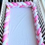 Бортик-косичка в Кроватку Pink/3 Нити