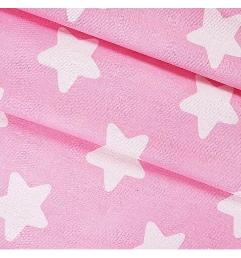 Бязь Звезды на розовом
