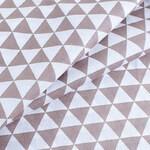 Бязь Треугольники Коричневые