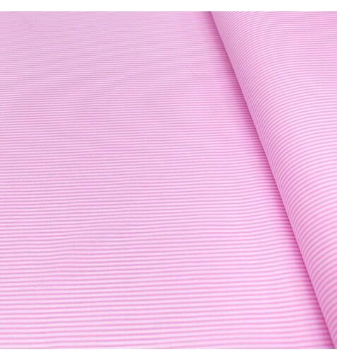Бязь Полоска Розовая