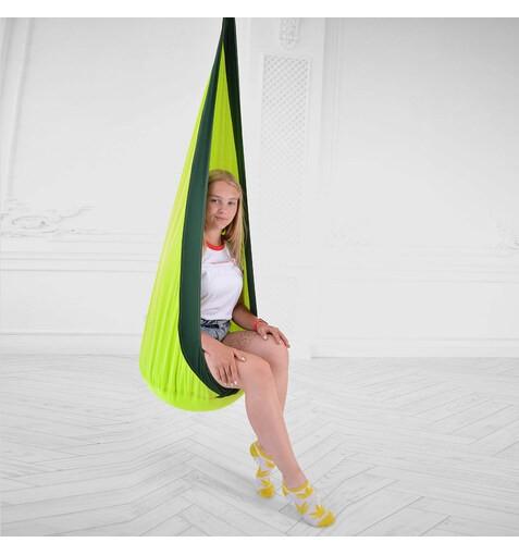 Качель-Кресло-Мешок для Детей LightGreenDarkGreen