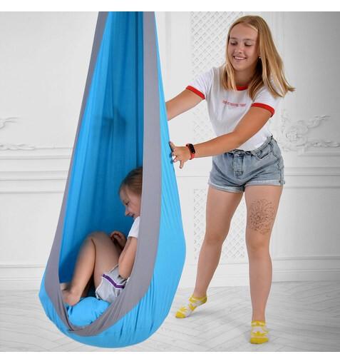 Качель-Кресло-Мешок для Детей BlueGrey