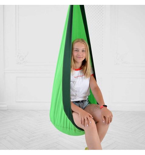 Качель-Кресло-Мешок для Детей GreenDarkGreen