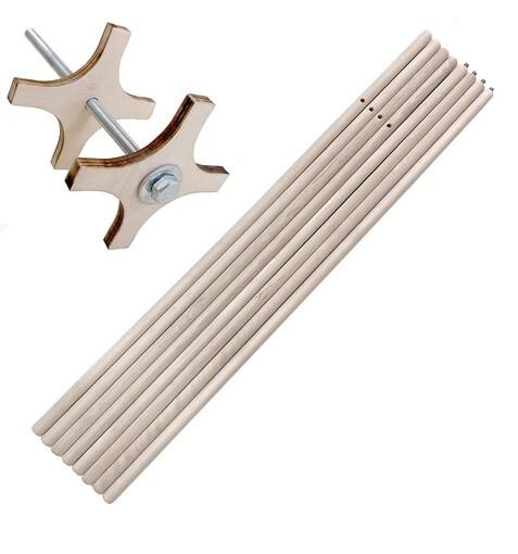 Палки Разборные для ВигВама + Система Антискладывания 180см. Комплект из 4-х штук (8х90см)