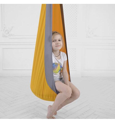 Качель-Кресло-Мешок для Детей OrangeGray