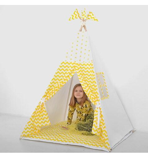 "Комплект Вигвама для детей ""Зигзаг желтый"""