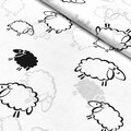 Бязь Овечки на белом