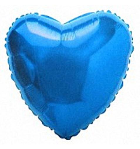 """Шар """"Сердце"""" синий 46см"""