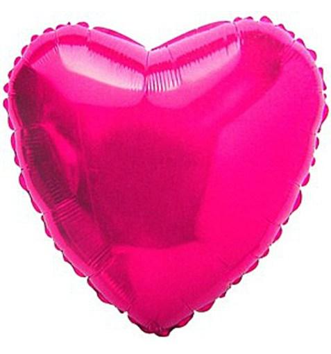 """Шар """"Сердце"""" розовый 46см"""