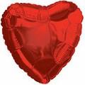 """Шар """"Сердце"""" красный 46см"""