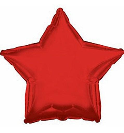 """Шар """"Звезда"""" красный 46см"""