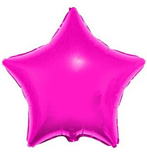 "Шар ""Звезда"" розовый 46см"