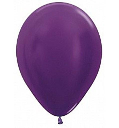 """Шар """"Металлик"""" фиолетовый 30см"""
