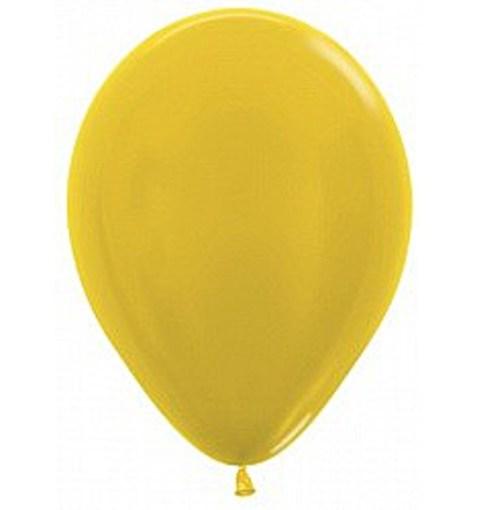 """Шар """"Металлик"""" желтый 30см"""
