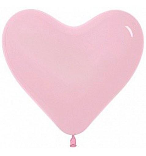 """Шар-сердце """"Пастель"""" светло розовый 30см"""