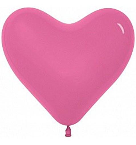 """Шар-сердце """"Пастель"""" розовый 30см"""
