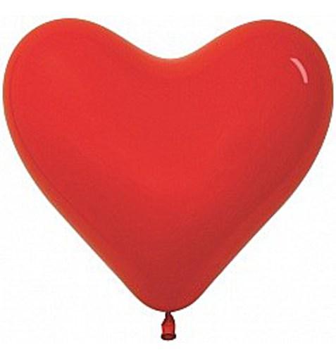 """Шар-сердце """"Пастель"""" красный 30см"""